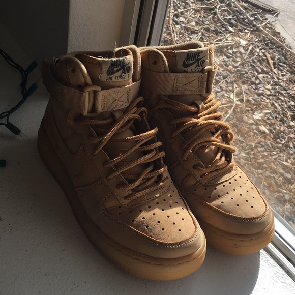 on sale c9dab 6aff1 Women's Nike Suede Air Force 1 in Wheat
